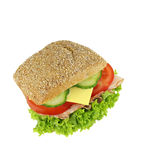 Delicious occupied wholemeal bun Royalty Free Stock Photos