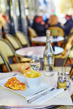 Delicious omelet and French fries Royalty Free Stock Photography