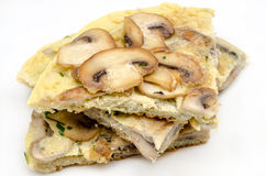 Delicious omelet with mushrooms Stock Image