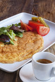 Delicious Omelet On Plate Royalty Free Stock Photography