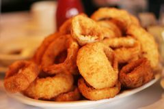 Delicious Onion Rings Royalty Free Stock Photo