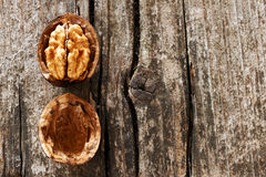 Delicious open walnut Royalty Free Stock Image