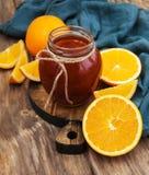 Delicious orange jam Royalty Free Stock Photos