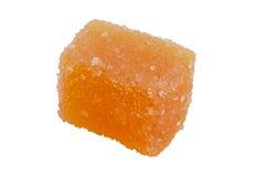 Delicious orange jelly cube Stock Photography