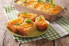 Free Delicious Orange Pie Syrup Soaked Close-up. Horizontal Stock Photo - 88713680