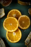 Delicious Orange Slices stock photos