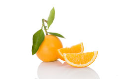 Delicious oranges on white. Royalty Free Stock Image