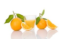 Delicious oranges on white. Royalty Free Stock Photos