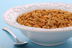 Delicious organic chunky granola cereal Royalty Free Stock Photography