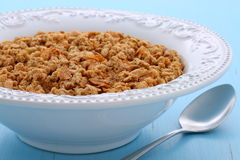 Delicious organic chunky granola cereal Royalty Free Stock Photos