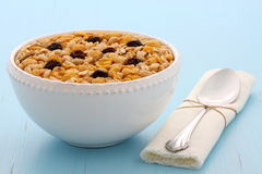 Delicious organic muesli cereal Royalty Free Stock Photos