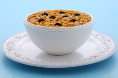 Delicious organic muesli cereal Royalty Free Stock Images