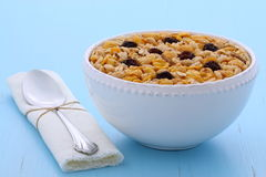 Delicious organic muesli cereal Stock Photo
