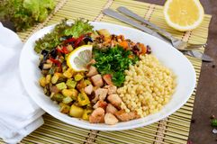Delicious oriental salad tabbouleh. Stock Image