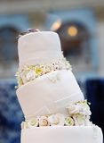 Delicious original wedding cake Stock Images