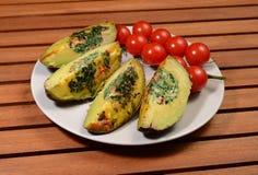 Tasty avocado slices stock photos