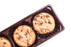 Delicious pack of Chocolate Chip Cookies Royalty Free Stock Photo
