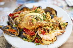 Delicious Paella. Royalty Free Stock Photos