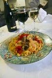 Delicious paella Stock Image