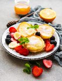 Delicious pancakes with berries royalty free stock image