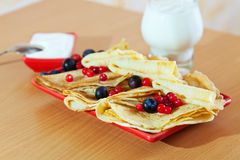 Delicious pancakes Royalty Free Stock Photography