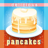 Delicious pancakes Stock Photo