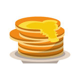 Delicious pancakes maple syrup Stock Image