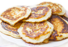 Delicious pancakes. On plate, white background Stock Image