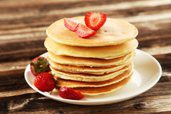 Delicious pancakes Stock Images