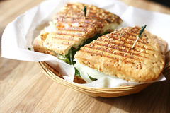 Delicious panini sandwich Royalty Free Stock Images