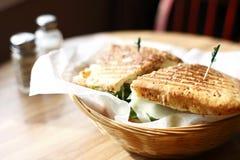 Delicious panini sandwich Stock Image