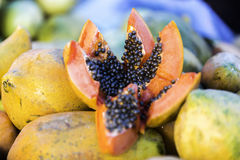 Delicious Papaya from a Local Market in Manaus, Brazil Royalty Free Stock Photo