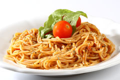 Delicious pasta Stock Image