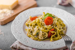 Delicious pasta with blue cheese Stock Image
