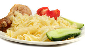 Delicious pasta dinner Stock Photography