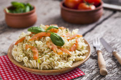 Delicious pasta on plate Stock Photography