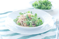 Delicious pasta with tuna and rocket Stock Image