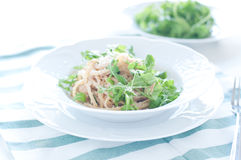 Delicious pasta with tuna and rocket Stock Photos