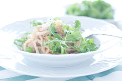 Delicious pasta with tuna and rocket Royalty Free Stock Photography