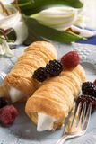 Delicious Pastries and Fruit Royalty Free Stock Images