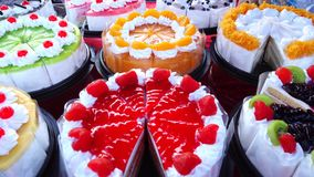 Delicious pastries sweet desserts stock video footage