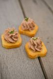 Delicious Pate Canapes Royalty Free Stock Photo