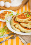 Delicious patties #01. Delicious patties on the white plate Stock Images