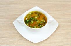 Delicious pea soup  home cooking Stock Photos