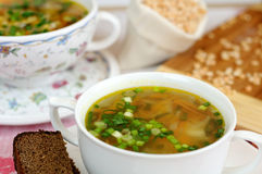 Delicious pea soup  home cooking Royalty Free Stock Photo