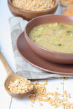 Delicious pea soup Royalty Free Stock Image
