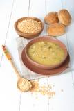 Delicious pea soup Royalty Free Stock Photos