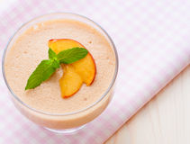 Delicious peach mousse Royalty Free Stock Image