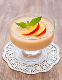 Delicious peach mousse Stock Photos