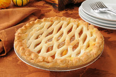 Delicious peach pie Royalty Free Stock Photos